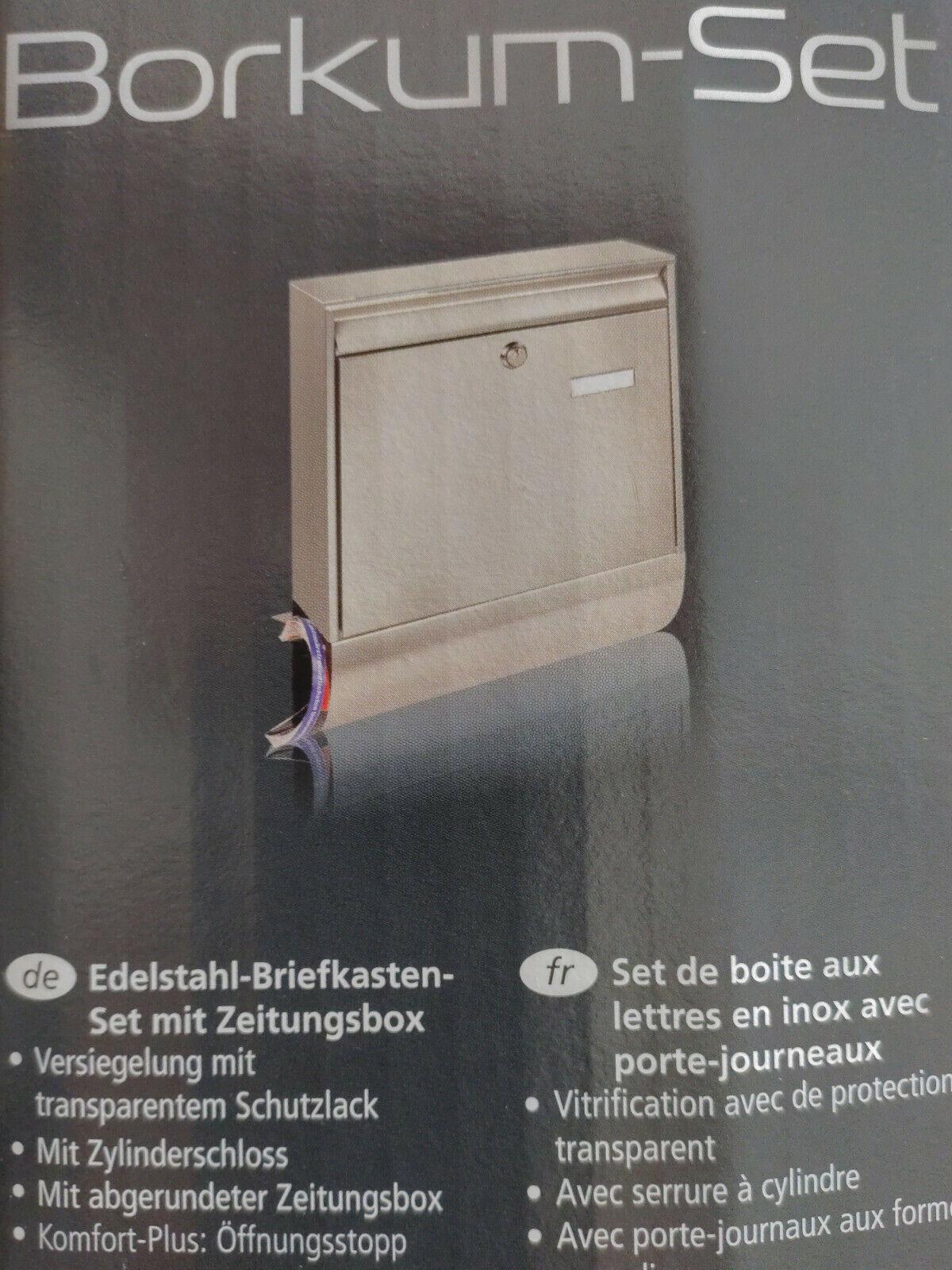 Edelstahl Burg-W/ächter 39690 Borkum-Set 38770 NI Briefkasten