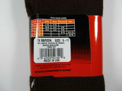 Multi-Sport Socks YOUTH Boys 4-9 Knee Length Pro Feet Style 111 Solid Color NWT