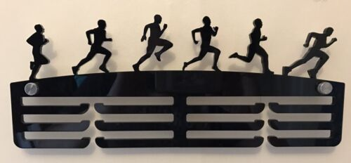Rack With Standoffs Holder Thick 5mm Acrylic 3 Tier MALE RUNNER Medal Hanger