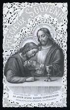 santino merlettato-holycard-canivet IL GIORNO DI UNA SANTA COMUNIONE bouasse leb