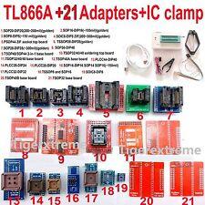 TL866A Programmer+21 Socket Adapters IC Clip TL866 Bios PLCC MCU EPROM ICSP USA