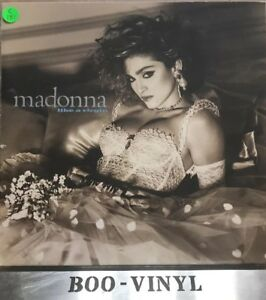 Madonna-Like-A-Virgin-Vinyl-LP-Sire-925-157-with-Lyric-Picture-Inner-Vg-Con