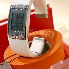 New Philippe Starck PH1106, White, Swarovski Bracelet Digital NIB w/manual MINT!
