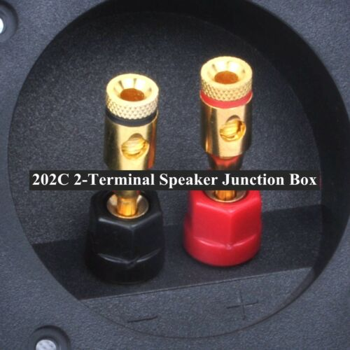 202C Red black 2-terminal Small box plastic Binding Post Speaker Box 57*57MM