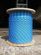 """Sailboat Rigging Rope 5/16"""" x 50' Blue/White Double Braided Sheet Halyard Line"""