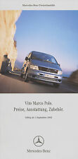 Preisliste Mercedes Sprinter James Cook 1.9.02 2003 Preise Reisemobil Wohnmobil