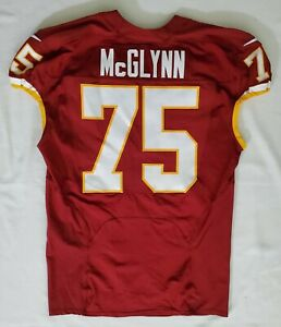 #75 Mike McGlynn of Washington Redskins NFL Locker Room Game Issued Worn Jersey