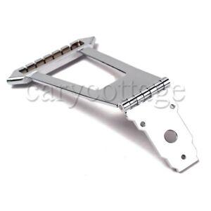 6-Strings-Instrument-Parts-Chrome-Bridge-Trapeze-Tailpiece-Archtop-Jazz-Guitar
