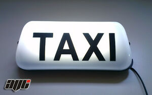 13-034-WHITE-LED-MAGNETIC-TAXI-ROOF-SIGN-LIGHT-TAXI-METER-TOPSIGN-CAB-LIGHT