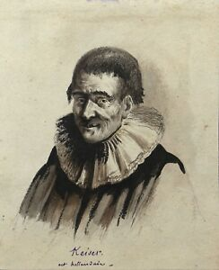Keiser-Actor-Theatre-of-18e-S-Dutch-Drawing-Antique
