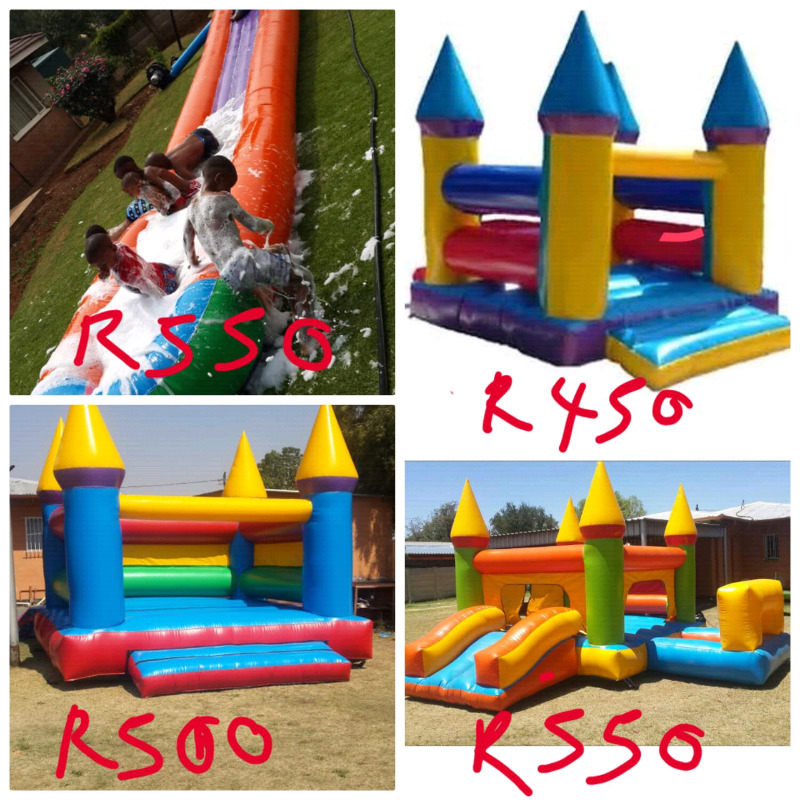 Jumping castles and water slide for hire