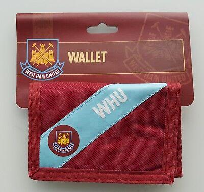 (wal107) Ufficiale West Ham United Football Club Bordeaux + Blu Wallet Nuovo Con Confezione Coyi-mostra Il Titolo Originale Grandi Varietà