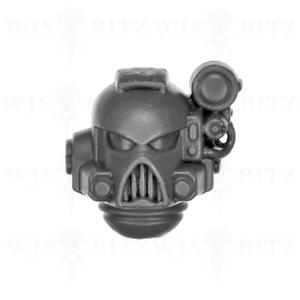 K Space Marines Devastator Squad Head Warhammer 40K Bitz