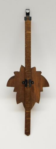 "Cuckoo Clock Pendulum 3/"" Maple Leaf Style NEW Brown German Made 8 3//4/"" Length"