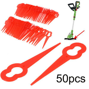 Am-50Pcs-Gourd-Shape-Mower-Cutting-Blades-Lawnmower-Grass-Cutter-Replacement-Kn