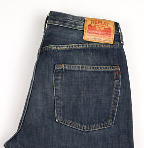 Replay-Hommes-MV902-030-Jeans-Jambe-Droite-Taille-W32-L30-AVZ640