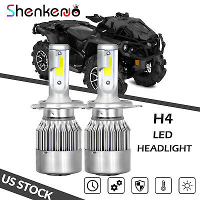 100W 8000K LED Headlight Bulb For Can-Am Outlander Max 400 500 570 650 800R 450