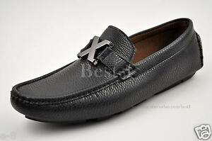 Men-039-s-Black-Driving-Moccasins-Shoes-Casual-Loafers-Slip-On-Soft-D-M-219762