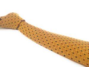 SALVATORE-FERRAGAMO-Tie-Gold-Green-Red-Woven-Jaquard-Italian-Silk-Necktie