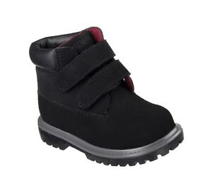 19F MECCA BRAZENLY Black Boots Boys Toddlers Skechers 93162N