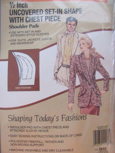 "Dritz 1//2/"" Uncovered Set-In Shape shoulder pads 53015 Lot of 6 packs"