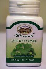 Organic Gotu Kola 400mg - 140 Veg Capsules - 2 Bottles - Centella asiatica - Bio