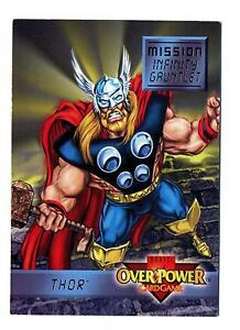 Fleer-1995-Marvel-OverPower-CCG-Mission-Infinity-Gauntlet-Power-Card-5-7-Thor