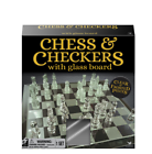 Cardinal Classic Glass Chess and Checkers Set With Board
