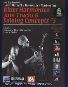 Blues-Harmonica-Jam-Tracks-mettre-en-solo-Concepts-Level-3-Partitions-livre-audio