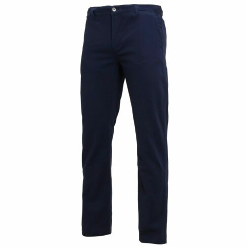 Asquith /& Fox Classic Cut Mens Chinos Trousers Pants Navy Blue 30R 75,21