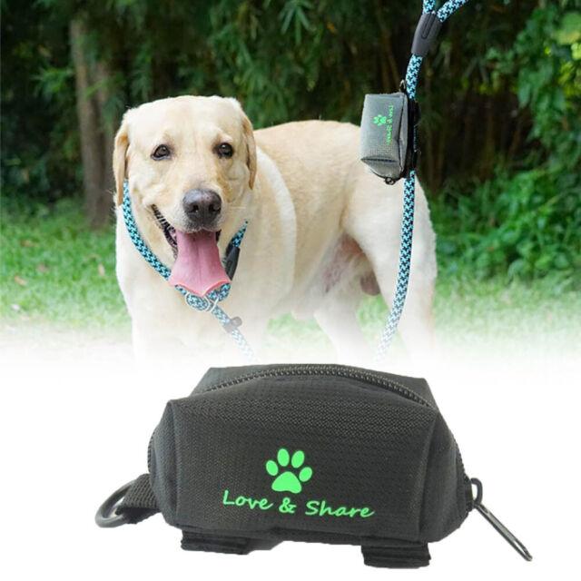 Pet Waste Dog Poo Puppy Pick-Up Bags Pet Poop Bag Holder Hook Pouch Portable