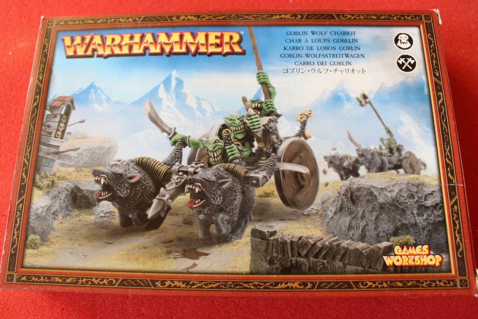 Games Workshop WARHAMMER GOBLIN Wolf CHARIOT Neuf  dans sa boîte nouveau complete boxed gobelins Épuisé  bon prix