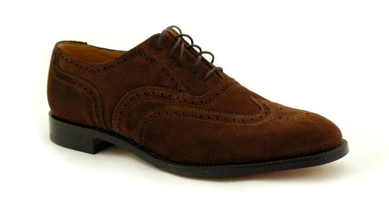 Loake Welted Premium -uomo scarpa 5 scamosciata Eye Marrone Scuro Pelle scamosciata 5 758DS2 860f87