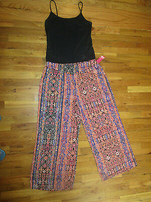 NWT Xhilaration Womens Multi-Color Palazzo Casual Pants Size L XXL