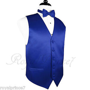 ROYAL BLUE MEN\'S Tuxedo Suit Vest Waistcoat and Butterfly Bow tie ...
