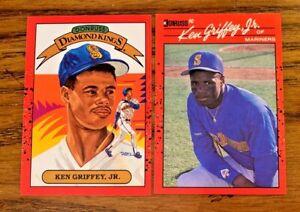 1990 Donruss Ken Griffey JR #$ and #365 - Mariners
