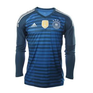 8f167653b ADIDAS GERMANY HOME GOALKEEPER JERSEY WORLD CUP 2018 Trace Royal Sub ...