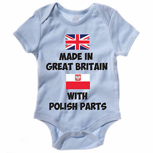 a00c3d01c2850 Baby Grow / Vest - MADE IN GREAT BRITAIN WITH POLISH PARTS ...