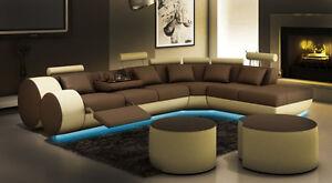 Ecksofa Sofa Couch Polster Wohnlandschaft Leder Eck Sofas Garnitur