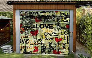 3D Graffiti Romantique Garage Porte Peint en Autocollant Murale AJ WALLPAPER FR
