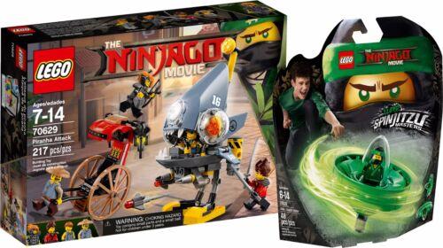 THE LEGO® NINJAGO® Movie™ Piranha-Angriff 70629+70628 Spinjitzu-Meister Lloyd