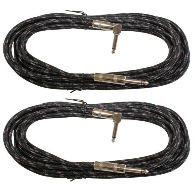 Fender Deluxe BLACK TWEED Guitar//Instrument Patch Cable 1/' ft Right-Angle