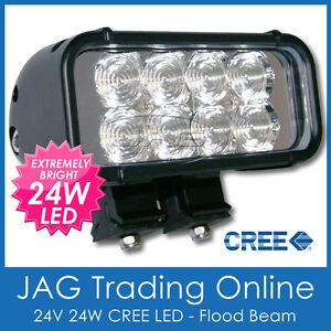 24W 24V CREE LED FLOOD/WORK LAMP-Driving/Truck/Forklift/Boat/4X4/Caravan Light