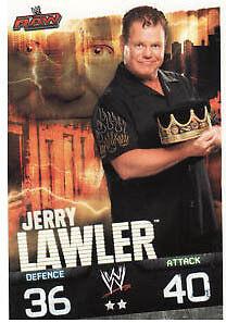 Jerry Lawler Raw Card WWE Slam Attax Evolution