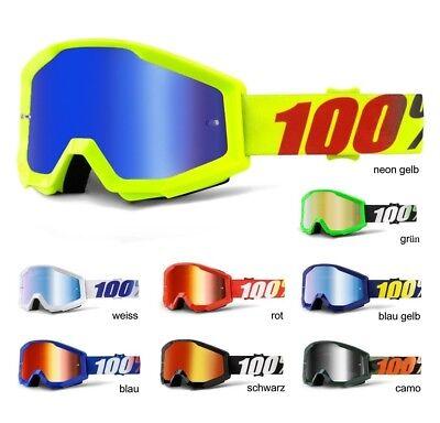 Bello 100% Strata Mx Occhiali A Specchio Mx Enduro Motocross Crossbrille 18 Mirror-