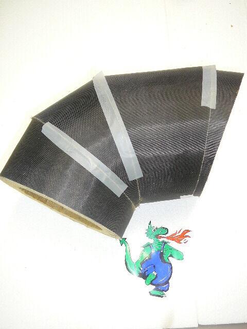 SUR Isolierung für Abgasrohr Rauchrohr Segmentbogen Bogen Bogen Bogen Knie 130 150 mm Rohr 5841a7