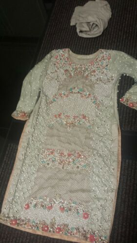 Shalwar Bridal Sale 3 Kameez Stiched Verlaagde Wedding Peice Maat Quick Ml PZXiOTwuk