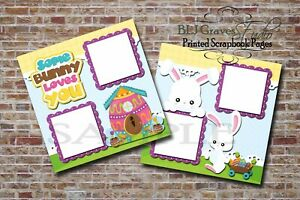 Easter-Some-Bunny-2-PRINTED-Premade-Scrapbook-Pages-Boy-Girl-Baby-BLJgraves-10