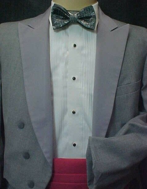 Details about  /Mens 42 L Lord West Classic Charcoal Grey Shawl Lapel Tuxedo Jacket and Pant