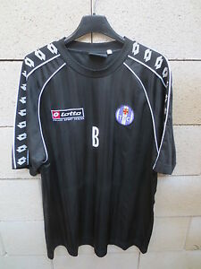 Maillot-porte-TOULOUSE-TFC-entrainement-training-shirt-LOTTO-vintage-B-football